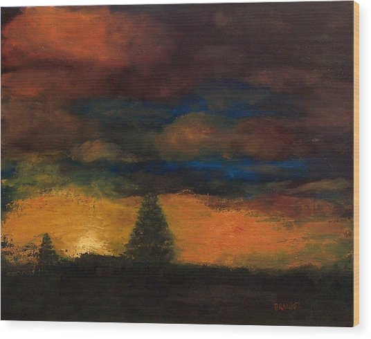 Colorado Sunrise Wood Print by Bill Brauker