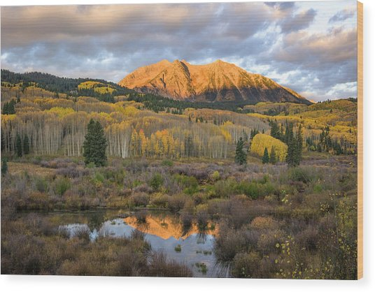 Colorado Sunrise Wood Print