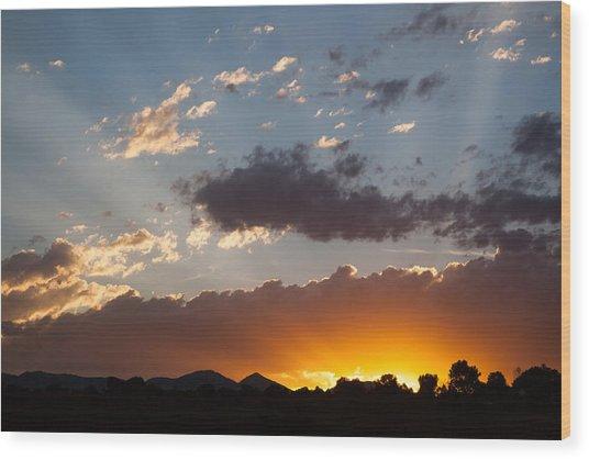 Colorado Sunset Wood Print