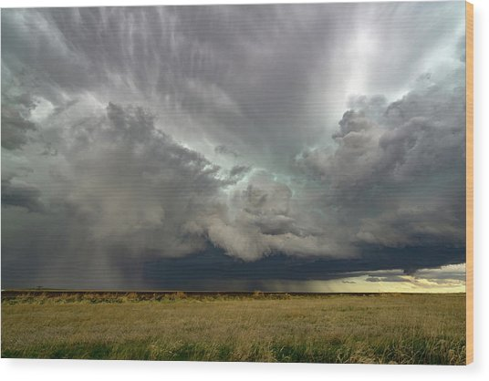 Colorado Supercell Wood Print by James Hammett