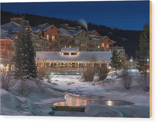 Colorado Winter Evening Wood Print