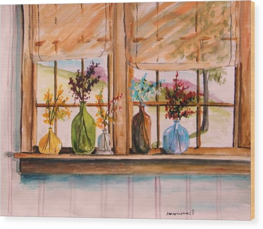 Colored Glass Wood Print by John Williams