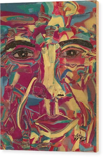 Colored Man Wood Print