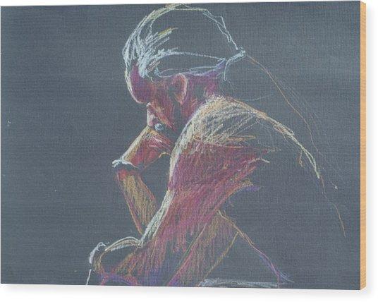 Colored Pencil Sketch Wood Print