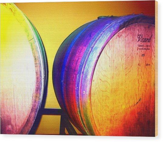 Colorful Barrels Wood Print by Cindy Edwards