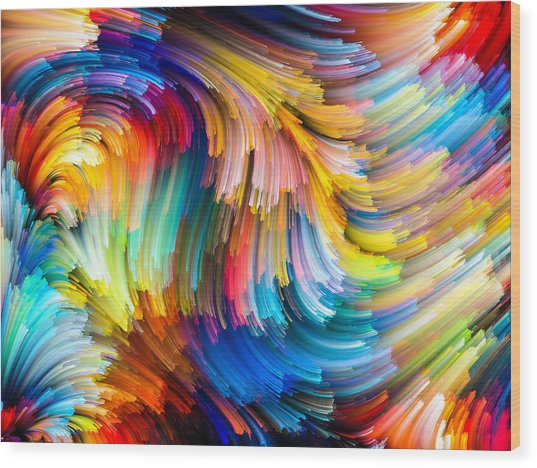 Colorful Beauty Wood Print
