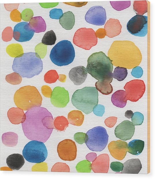 Colorful Bubbles Wood Print