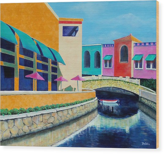 Colorful Cancun Wood Print