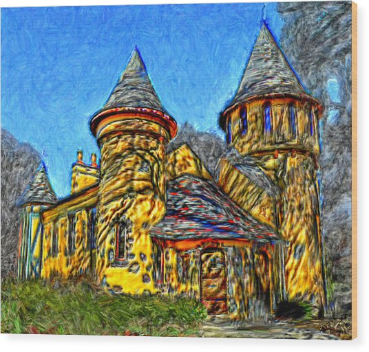 Colorful Curwood Castle Wood Print