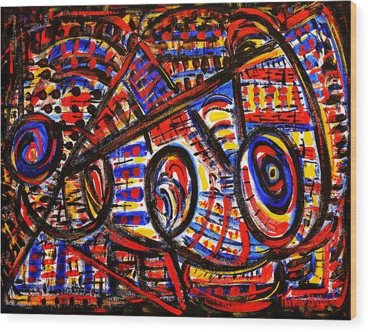 Colorful Expression 18 Wood Print