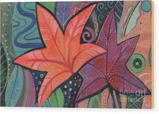 Colorful Fall Wood Print