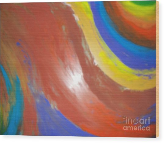 Colorful Flame Wood Print