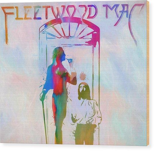 Colorful Fleetwood Mac Cover Wood Print