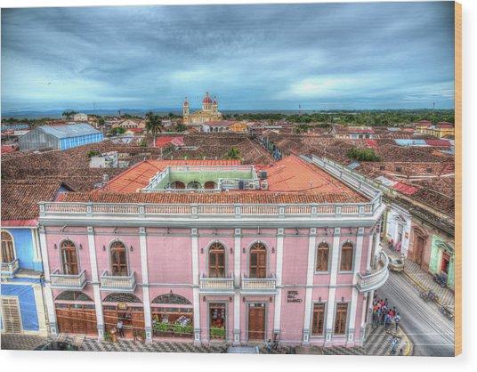 Colorful Granada Wood Print by Michael Santos