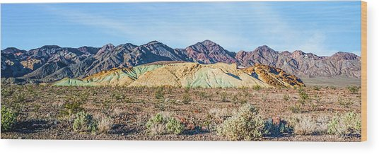 Colorful Hills Wood Print