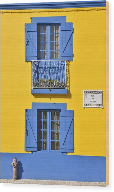 Colorful House Wood Print