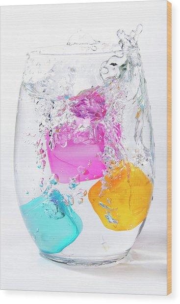 Colorful Ice Wood Print