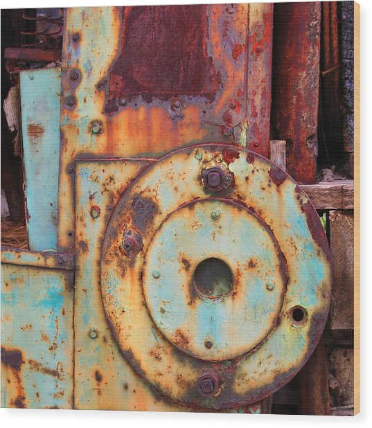 Colorful Industrial Plates Wood Print