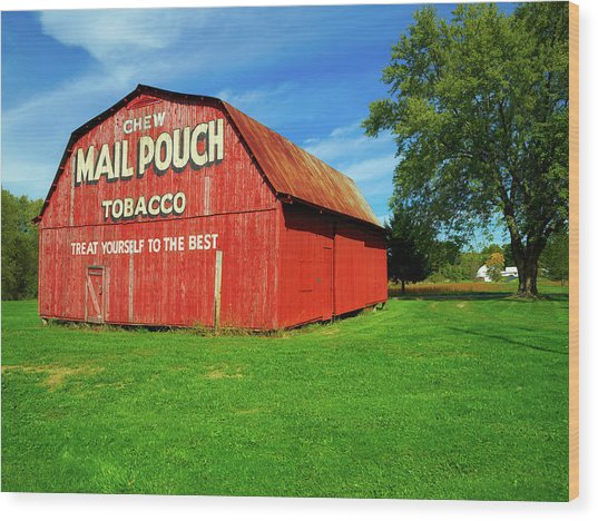 Colorful Mail Pouch Tobacco Barn Wood Print