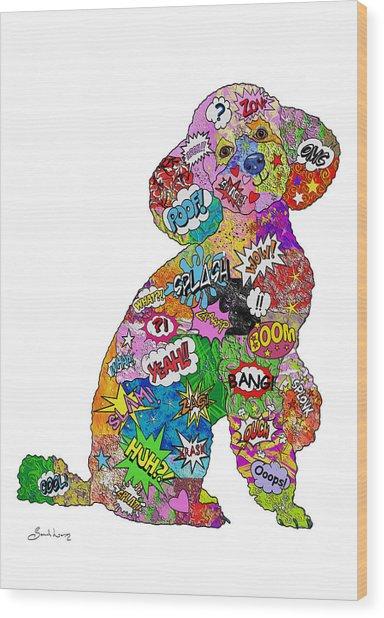 Poodle-icious Wood Print