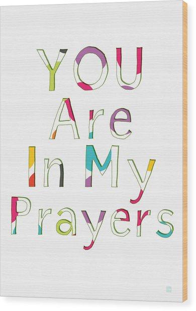Colorful Prayers- Art By Linda Woods Wood Print