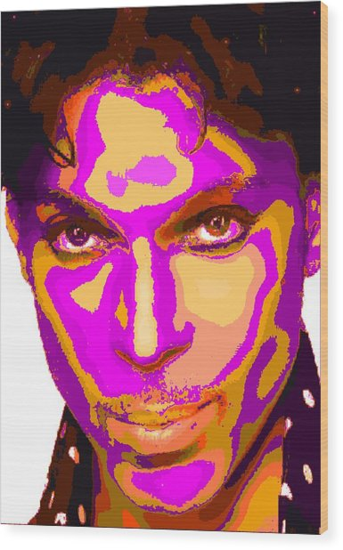 Colorful Prince - Purple Wood Print