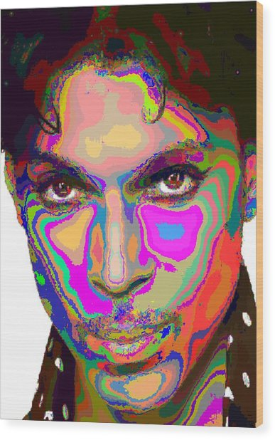 Colorful Prince Wood Print