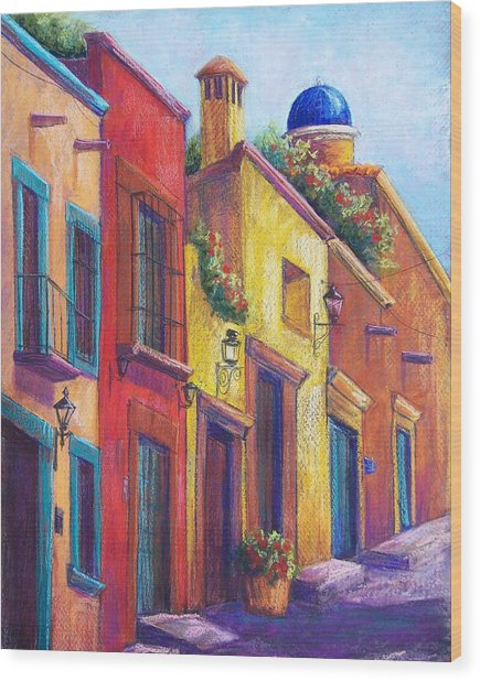 Colorful San Miguel Wood Print by Candy Mayer