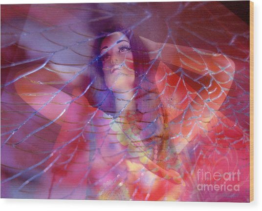 colorful surreal woman mannequin photography - Desdemona Wood Print