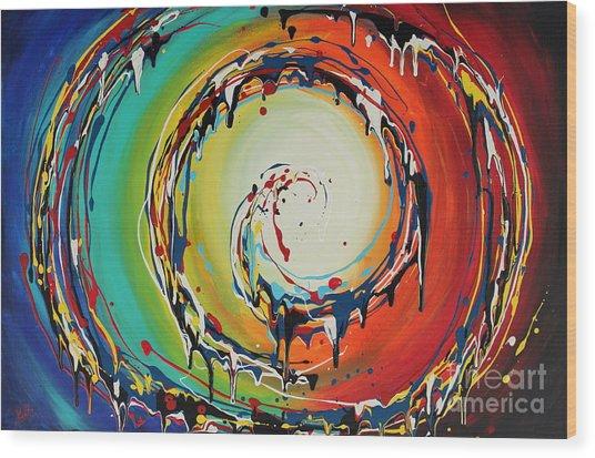 Colorful Swirls Wood Print