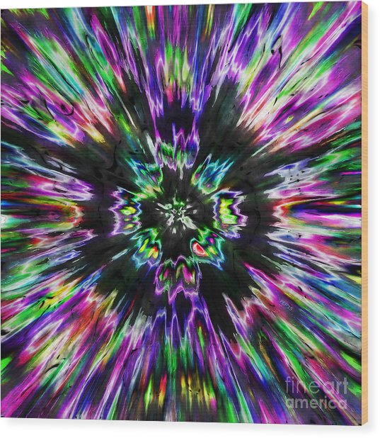 Colorful Tie Dye Abstract Wood Print
