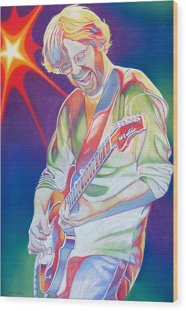 Colorful Trey Anastasio Wood Print