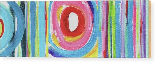 Colorful Uprising 6- Art By Linda Woods Wood Print