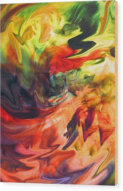 Colorful Waves Wood Print by Jennifer Godshalk