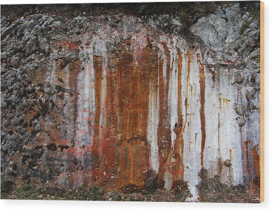 Colors Below A Gold Mine Wood Print by Sarah King