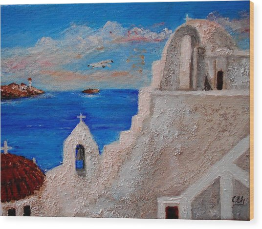 Colors Of Greece Wood Print