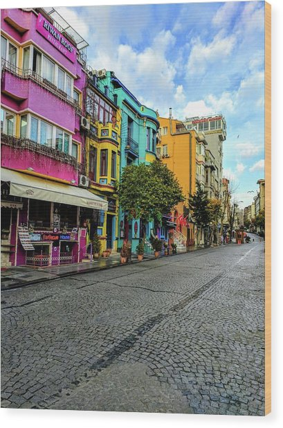Colors Of Istanbul Wood Print