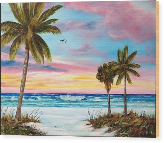 Colors Of Siesta Key Wood Print