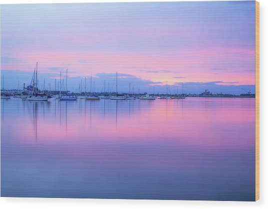 Colors Of The Harbor Wood Print