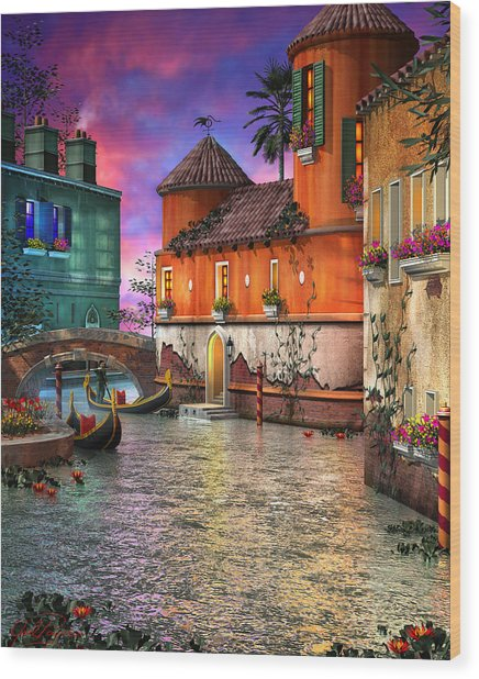 Colors Of Venice Wood Print