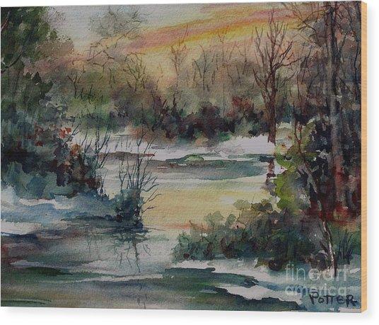 Colors Of Winter Wood Print