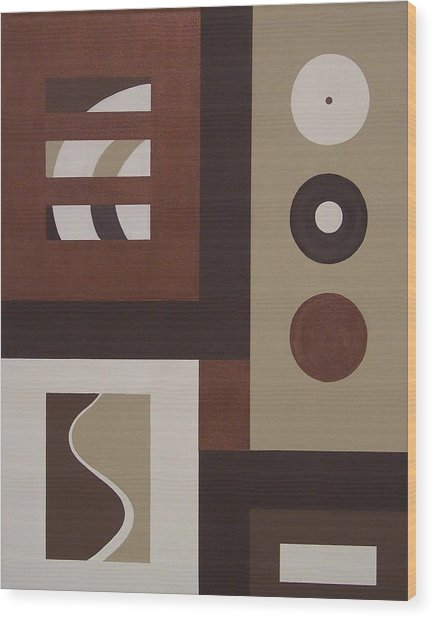 Colors Without Purpose 1 Wood Print by Sandy Bostelman