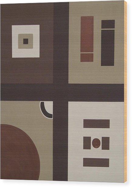 Colors Without Purpose 2 Wood Print by Sandy Bostelman