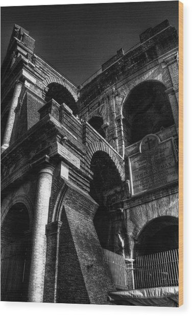 Coloseo 3 Wood Print by Brian Thomson