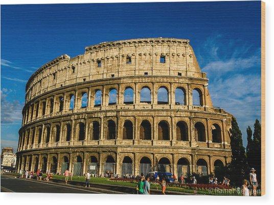 Colosseo Roma Wood Print