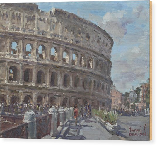 Colosseo Rome Wood Print