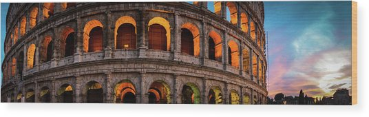 Colosseum In Rome, Italy Wood Print