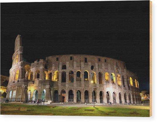 Colosseum Wood Print by Nikos Stavrakas