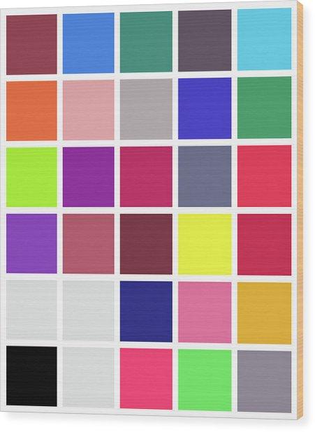 Colour Alphabet - 24 Wood Print