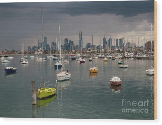 Colour Of Melbourne 2 Wood Print